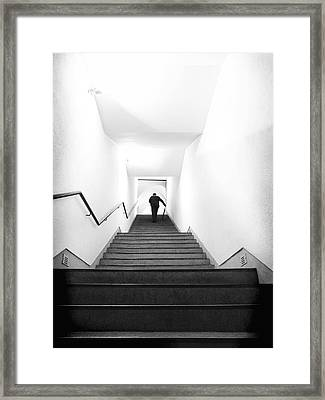 Up Stairs Framed Print by Artecco Fine Art Photography