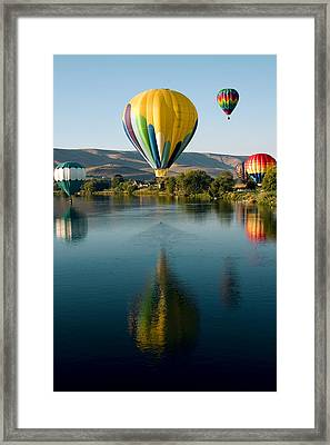 Up Up In The Air Framed Print by David Patterson