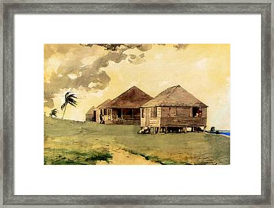 Upcoming Tornado Bahamas Framed Print by Winslow Homer