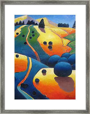 Uphill Climb Revisited. Framed Print by Gary Coleman