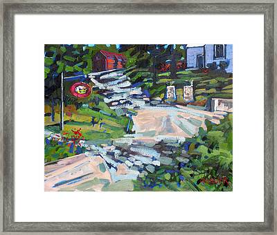 Uphill In Rockport Framed Print by Phil Chadwick