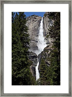 Upper And Lower Yosemite Falls Framed Print by Garry Gay