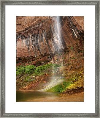 Upper Calf Creek Falls Framed Print by Leland D Howard