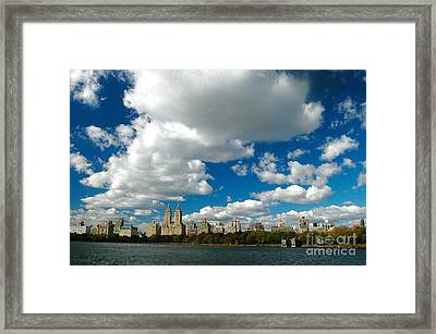 Upper West Side Cityscape Framed Print by Allan Einhorn