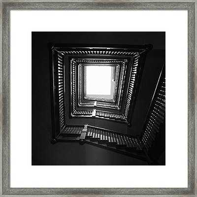 Upstairs- Black And White Photography By Linda Woods Framed Print by Linda Woods