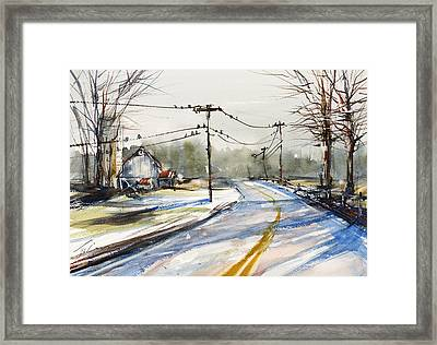 Upstate Ny Sunday Drive Framed Print by Judith Levins