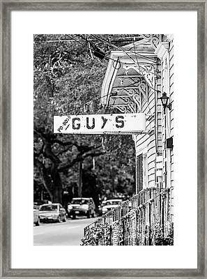Uptown Po-boys Framed Print by Scott Pellegrin
