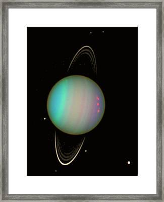 Uranus Framed Print by Nasaesastscie.karkoschka, U.arizona