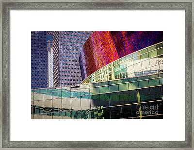 Urban Abstract Framed Print by Inge Johnsson