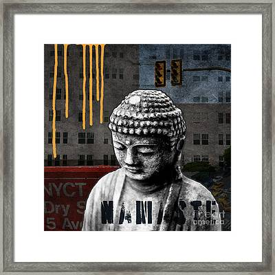 Urban Buddha  Framed Print by Linda Woods