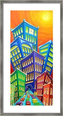 Urban Crawl Framed Print by Eva Folks