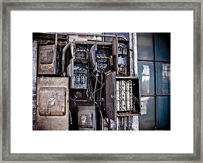 Urban Decay  Fuse Box Framed Print by Edward Myers