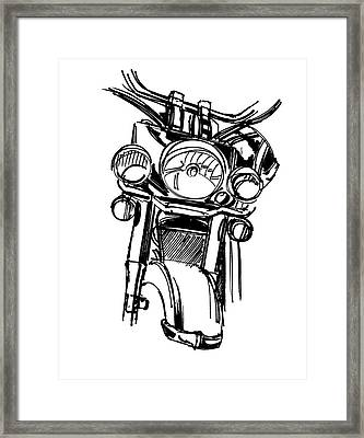 Urban Drawing Motorcycle Framed Print by Chad Glass