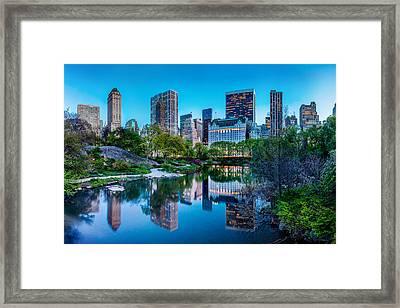 Urban Oasis Framed Print by Az Jackson