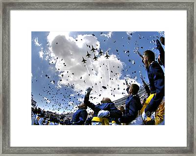 U.s. Air Force Academy Graduates Throw Framed Print by Stocktrek Images