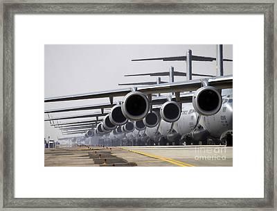 U.s. Air Force C-17 Globemaster IIis Framed Print by Stocktrek Images