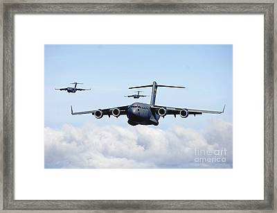 U.s. Air Force C-17 Globemasters Framed Print by Stocktrek Images