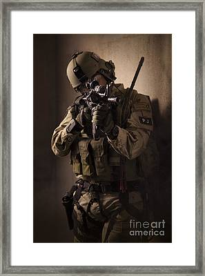 U.s. Air Force Csar Parajumper Armed Framed Print by Tom Weber