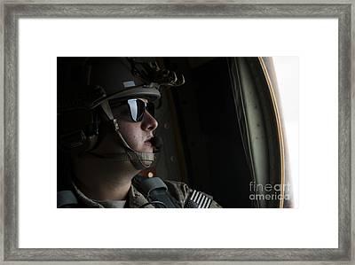 U.s. Air Force Loadmaster Looks Framed Print by Stocktrek Images