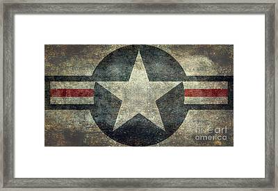 Us Air Force Roundel With Star Framed Print by Bruce Stanfield