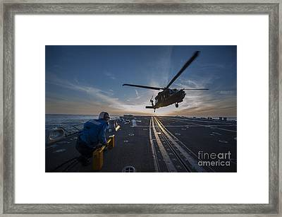 U.s. Army Mh-60 Blackhawk Helicopter Framed Print by Celestial Images
