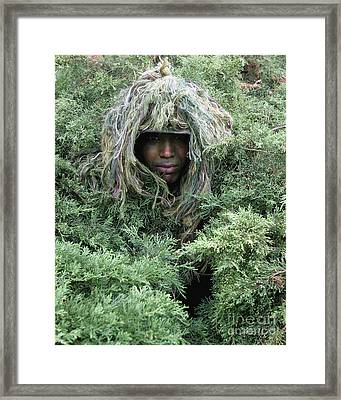 U.s. Army Soldier Demonstrates The Use Framed Print by Stocktrek Images
