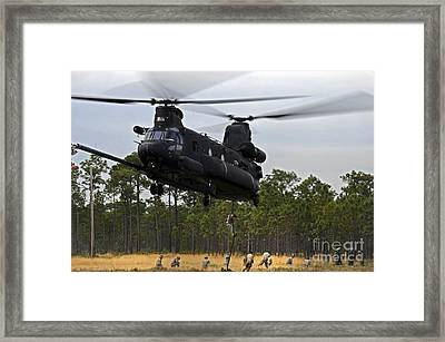 U.s. Army Special Forces Fast Rope Framed Print by Stocktrek Images