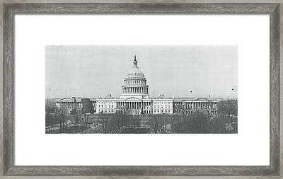 Us Capitol Washington Dc 1916 Framed Print by Panoramic Images