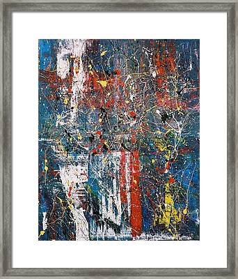 U.s. Confetti Framed Print by Diane Clement