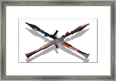 Us Flag Rpg's Framed Print by Jacob Mayer