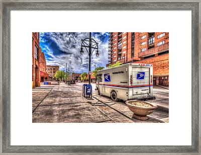 Us Mail Truck Framed Print by Spencer McDonald