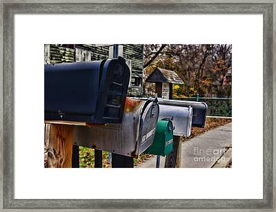 Us Mailboxes Framed Print by Paul Ward