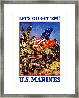 Us Marines - Ww2  Framed Print by War Is Hell Store