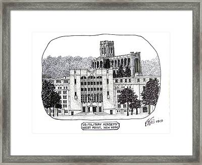 Us Military Academy At West Point Ny Framed Print by Frederic Kohli