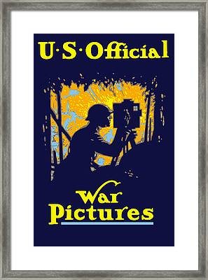 U.s. Official War Pictures Framed Print by War Is Hell Store