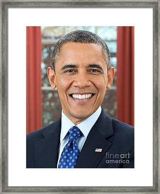 U.s. President Barack Obama  Framed Print by MotionAge Designs