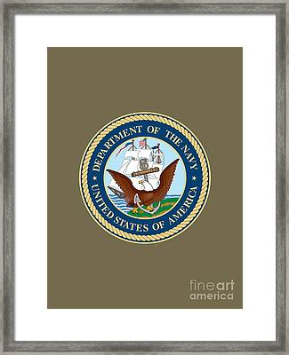 U.s. Seal Department Of The Navy Framed Print by Pg Reproductions