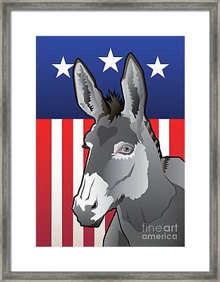 Usa Donkey Framed Print by Joe Barsin