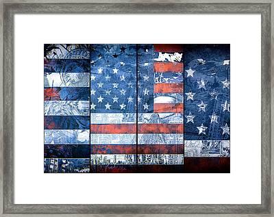 Usa Flag 11 Framed Print by Bekim Art