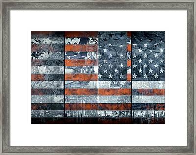 Usa Flag 12 Framed Print by Bekim Art