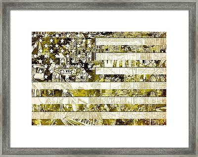 Usa Flag 13 Framed Print by Bekim Art