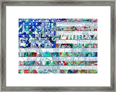 Usa Flag 14 Framed Print by Bekim Art