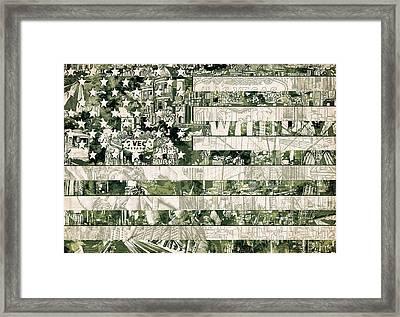 Usa Flag 15 Framed Print by Bekim Art