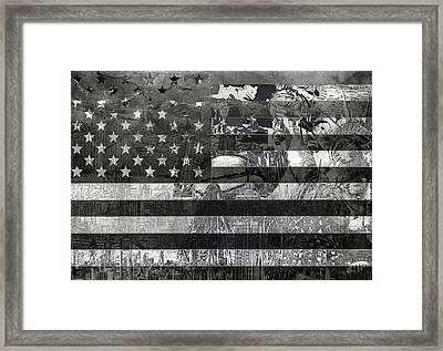 Usa Flag 4 Framed Print by Bekim Art