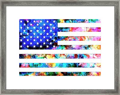 Usa Flag 6 Framed Print by Bekim Art