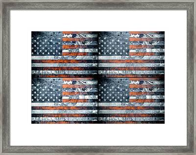 Usa Flag 9 Framed Print by Bekim Art