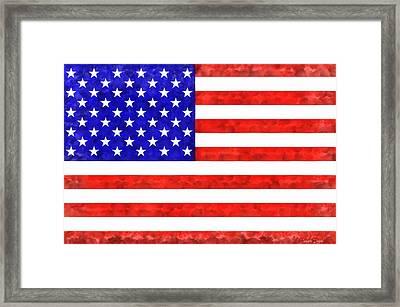 Usa Flag  - Acrylic Style -  - Da Framed Print by Leonardo Digenio