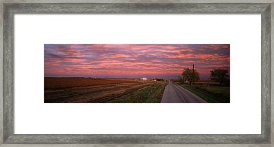 Usa, Illinois, Road Framed Print by Panoramic Images