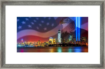 Usa Land Of The Free Framed Print by Susan Candelario