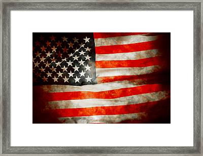 Usa Old Glory Patriot Flag Framed Print by Phill Petrovic